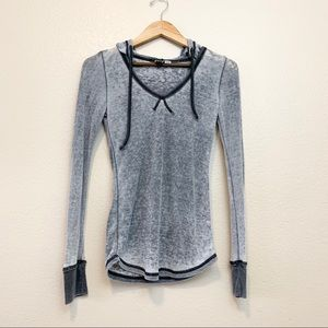 Roxy Hooded thermal top with Drawstrings